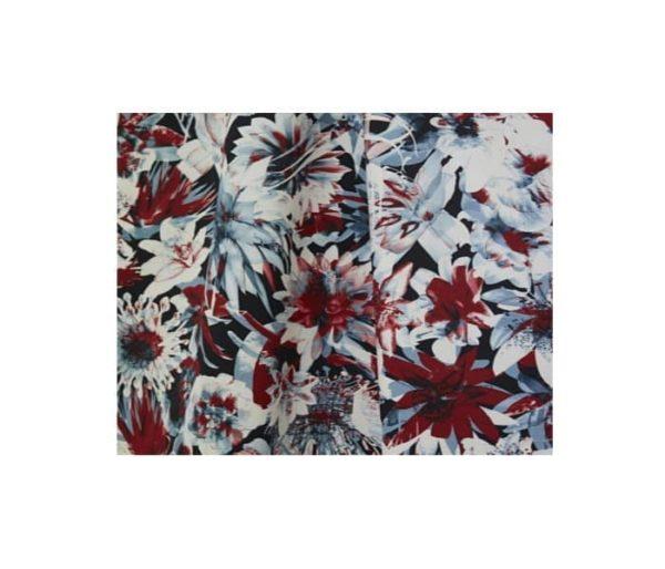 coton imprimé de fleurs stylisées