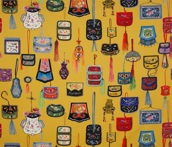 coton imprimé de sacs traditionnels chinois