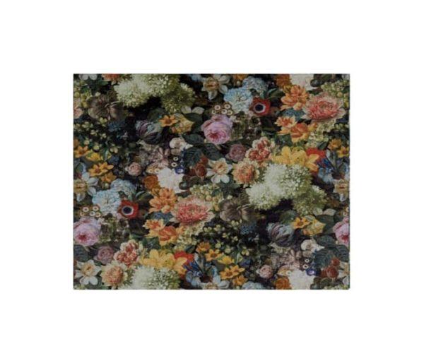 velours imprimé de bouquet de fleurs