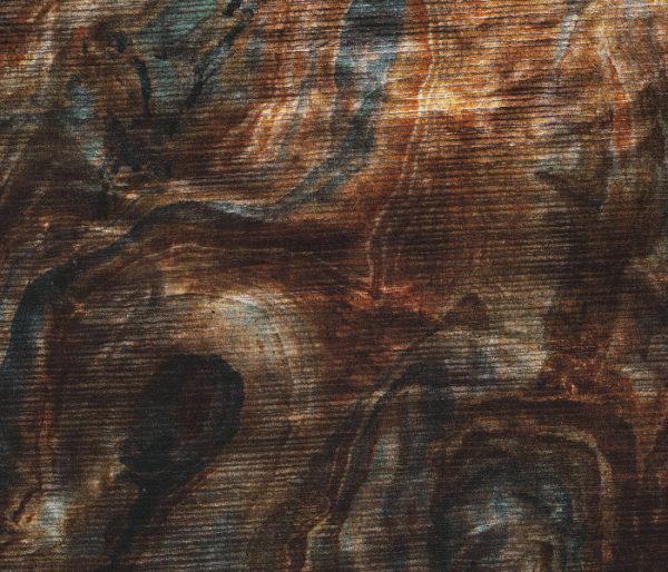 velours imprimé d'un motif imitant les veines du marbre