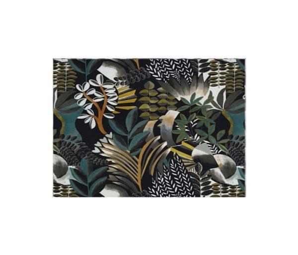 tissu imprimé d'un paysage artistique et coloré