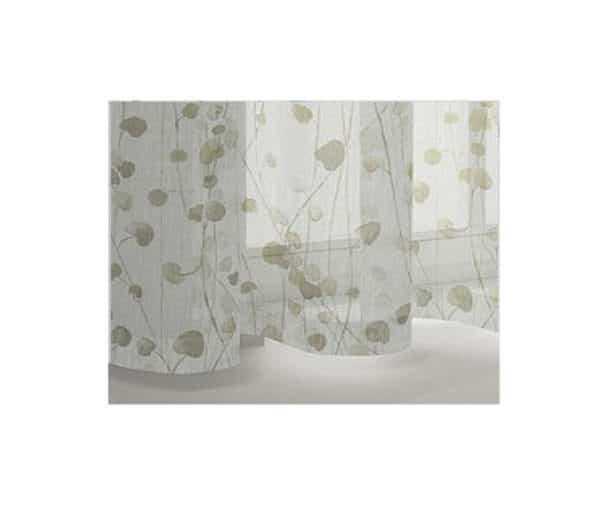 voilage polyester imprimé de motifs floraux