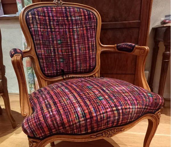 Velours imprimé d'un motif tweed contemporain