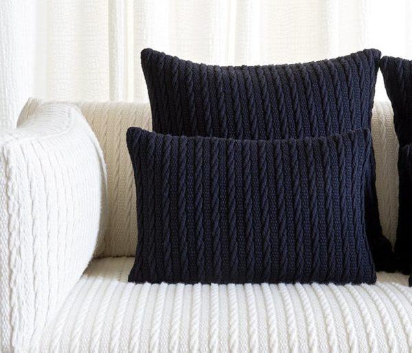 laine tressée pour le siège