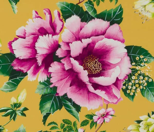 coton imprimé de grands motifs floral
