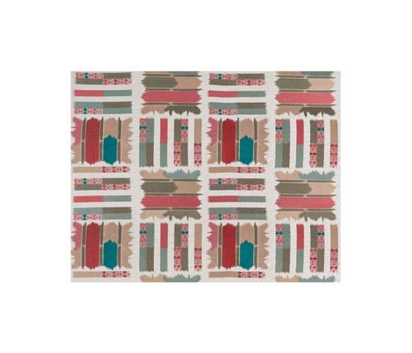 Toile de coton imprimé d'un motif tribal coloré