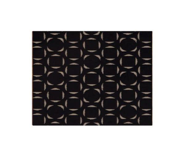 Velours composé d'une succession de carrés inscrits dans des ronds