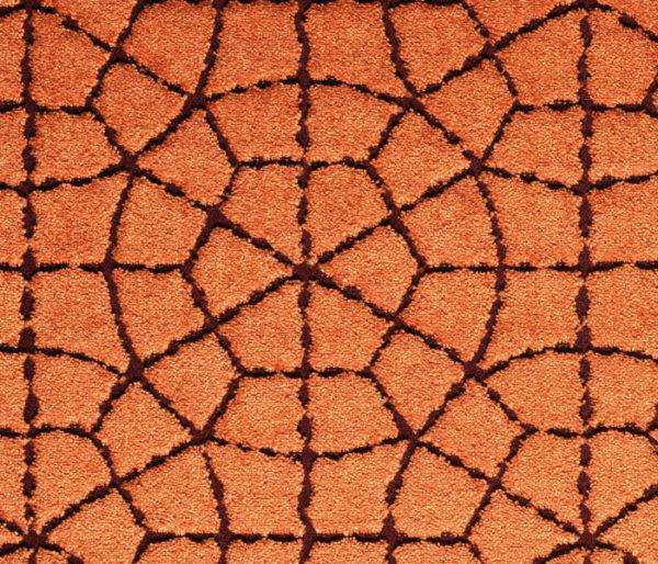 Velours brodé d'un motif circulaire arabisant