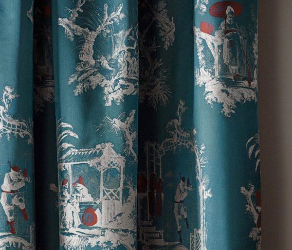 Velours imprimé de scènes traditionnelles chinoises
