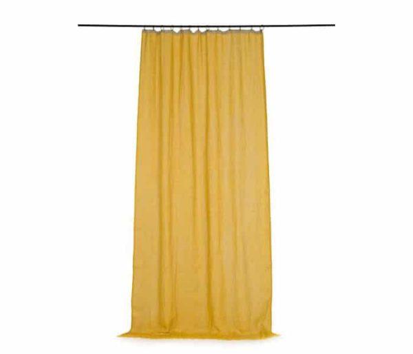 rideau prret à poser en lin colorsi jaune