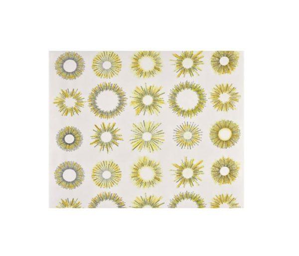tissu imprimé de soleils stylisés